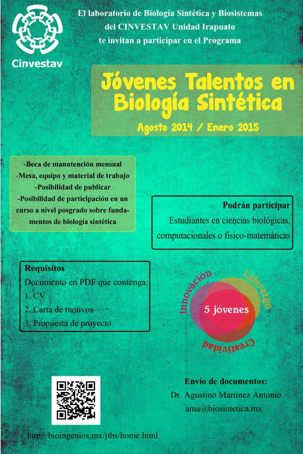 CINVESTAV busca jóvenes talento en Biología Sintética