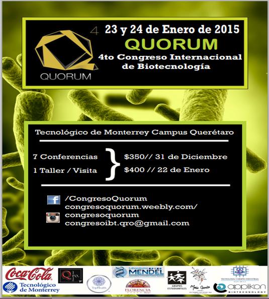 Congreso de Biotecnología Quorum 2015