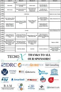 Programa y sponsors de TECNOx 2.0